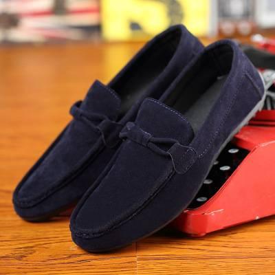 men's shoes a pedal casual shoes Korean trend  wild tide shoes dark blue 40