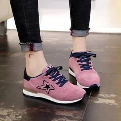 New Fashion Wild Pentagram Comfortable Sports Shoes, Women's Running Shoes, Hiking Shoes pink 40