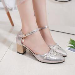 Women's sandals Summer women's single high heel fashion shoes golden 38