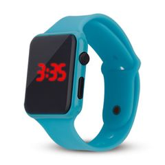 Fashion children's electronic Watches blue as picture