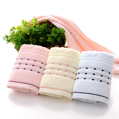 COOL LIFE Cotton Jacquard with Thick Towels Soft  Skin Wash High Quality Face Towel In Adults 1pcs pink 35 * 75cm