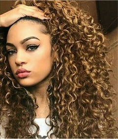 Chemical Fiber High Temperature Silk Wigs Small Head Fleeciness Curl Woman Explosion Long Curly Hair brown 65cm