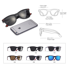 Classic Polarized Sunglasses Men Women Driving Square Frame Sun Glasses Male Goggle UV400 #c2
