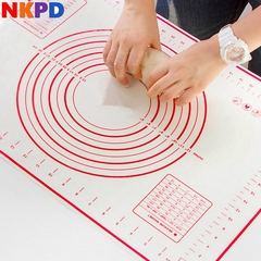 1 pc Silicone Baking Mats Sheet Pizza Dough Non-Stick Maker Holder Pastry Gadgets Tools Bakeware red S(26*29cm/10.23*11.41inch)
