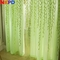 270*100cm Cute Willow Leaf Tulle Curtains Blinds Voile Pastoral Floral Window Bedroom Living Room green L(270*100cm)