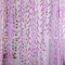 270*100cm Cute Willow Leaf Tulle Curtains Blinds Voile Pastoral Floral Window Bedroom Living Room purple S(200*100cm)