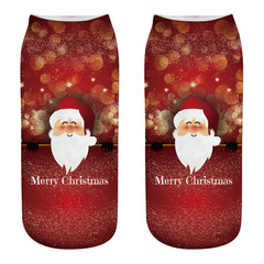 Christmas socks printed socks Christmas socks lady A one size