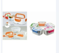Portable Travel USB Charging Electric Lunch Box & Food Warmer multi color Multi