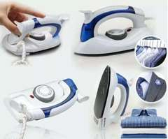 Portable and Foldable Travel Iron box white +blue