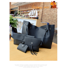 Hot sales! Buy one get three free! Large Women handbags, lady big shoulder bags,office big bags dark gray as picture