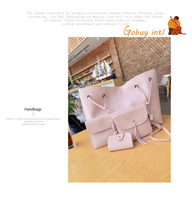 Hot sales! Buy one get three free! Large Women handbags, lady big shoulder bags,office big bags pink as picture