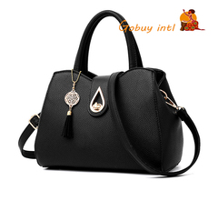 【Gobuy】Hot sales! Luxury women handbag and shoulder bag , office and causal  bag rubber pink as picture