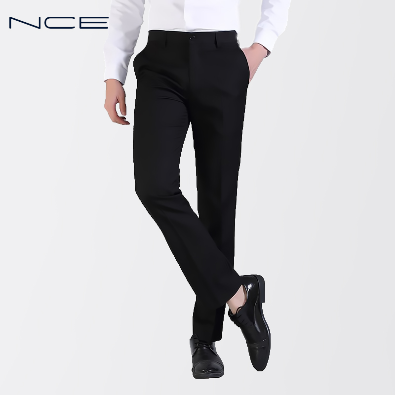 Nce Occupation Men S Work Black Trousers Men S Business Suit Pants
