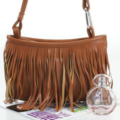 Bags Women's Punk Satchel Tassel Suede Fringe Shoulder Messenger Handbags Purses For Girls brown one size