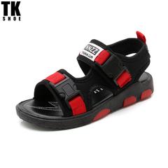 TK SHOP new children's mesh-belt summer sandals, student sandals,flip flop beach sandals, Red 27(Internal length16.5cm)