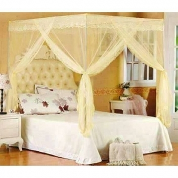 MOSQUITO NET WITH METALLIC STAND cream 6*6