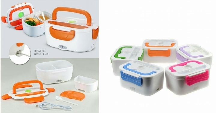 Portable Travel USB Charging Electric Lunch Box & Food Warmer multi color Multi- color