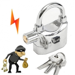 Automatic Tamperproof Security Anti-Theft Alarm Padlock Silver large