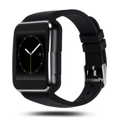 New Arrival X6 Smart Watch with Camera Touch Screen Support SIM TF Card Bluetooth Black With Retail Box