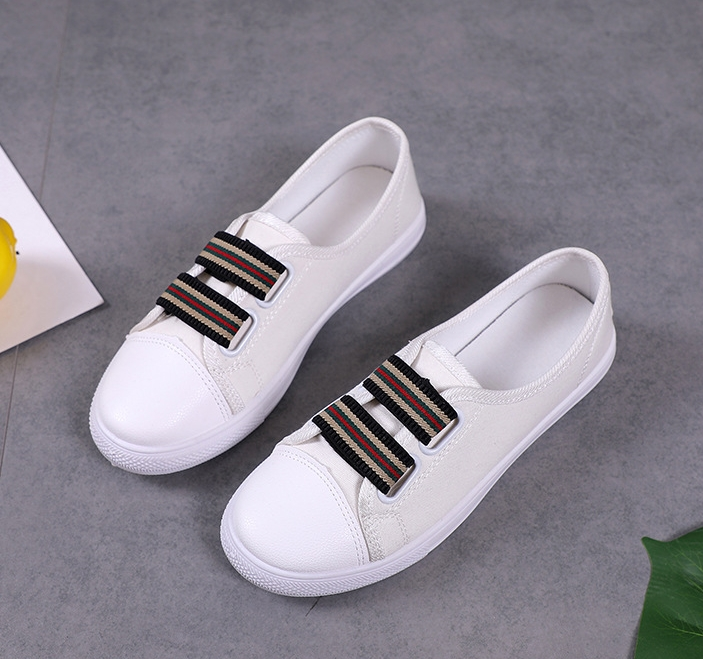 75200ab4a2b7 2019 Women Canvas Casual Shoes Flat Driving Vulcanize Walking Sneakers  Athletic Elastic Espadrilles white 35  Product No  10897240. Item  specifics  Brand