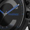 Smart quartz watch Traditional Watch With Smart Functions Fitness Tracking IP68 Waterproof blue steel band