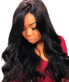 New hot wig sets for ladies with long curly hair and high temperature silk in big waves black one size