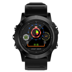 Heart rate of new smart watch sells well circular color screen bluetooth watch black one size