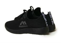 New women's shoes lace-up shoes sports leisure fashion versatile women's cloth shoes black 36