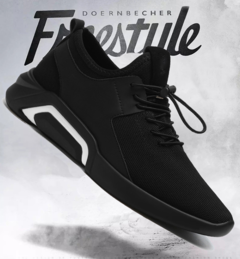 New men's shoes winter and fall trends go with casual canvas shoes and men's sneakers Black/white 39