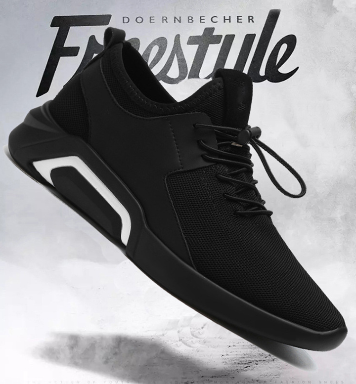 New men's shoes winter and fall trends go with casual canvas shoes and men's sneakers Black/white 43