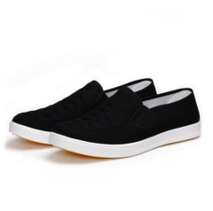 New men's shoes low top canvas shoes breathable casual men wear old Beijing cloth shoes black 39 canvas