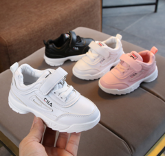New children's shoes boys' small white shoes women's children's shoes sports shoes pink 21