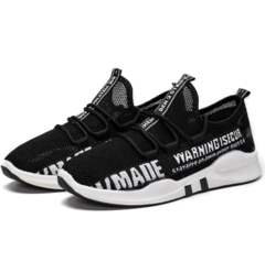 2019 new breathable casual hollow mesh shoes new Korean version of the trend coconut shoes black 39