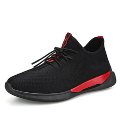 New 2019 sport casual shoes Korean version joker low-top single shoes running shoes for men black 39