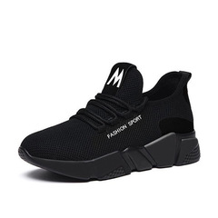 New sports shoes ladies' casual shoes fashion versatile light versatile women's shoes black 36
