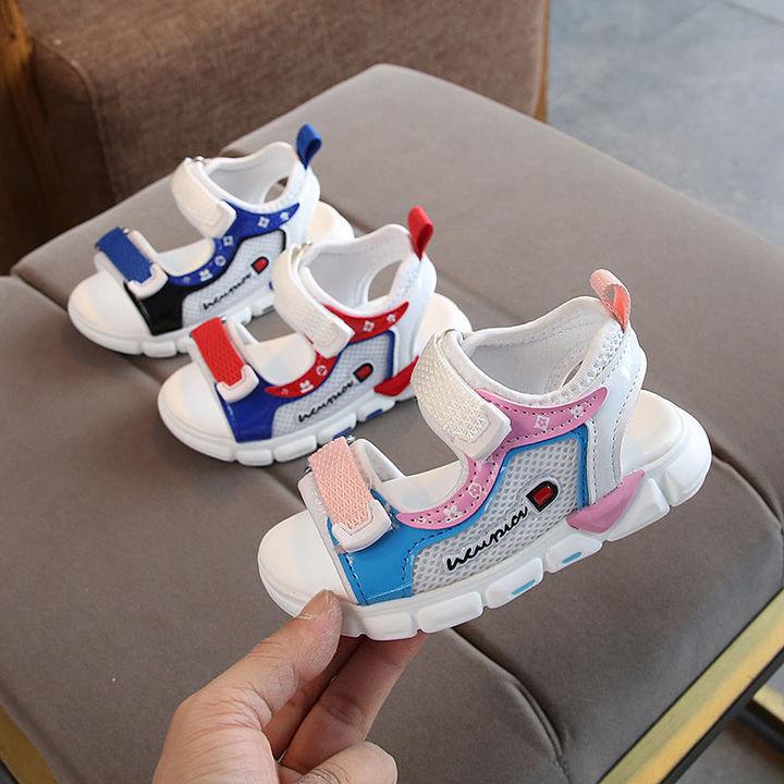 New children's sandal slip-resistant slip-toe sandal for baby fashion walking shoes red 22