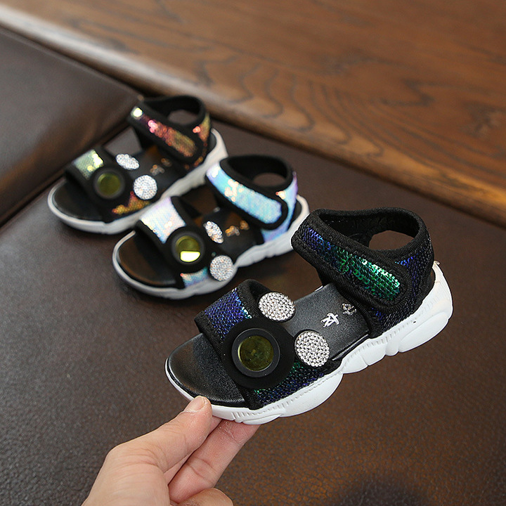 2019 hot style open-toe bear bottom sandals scales beach shoes baby walking shoes blue 21