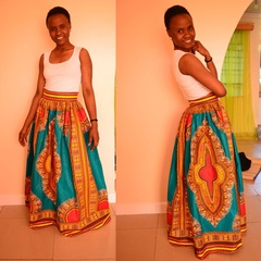 Women New Fashion Digital Printing Pleated Large Size Long Skirt Long Slim Pleated Skirts as picture 4xl/5xl