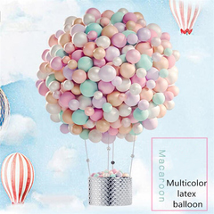 100/package 13inch Macaron Candy Color Wedding Birthday Prom Holiday Party Latex Balloon Decoration non-mark gluedots  (1roll /100 dots) one size