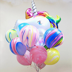 100/package Marbling Clouds Wedding Birthday Prom Holiday Party Latex Balloon Decoration Photography non-mark gluedots one size