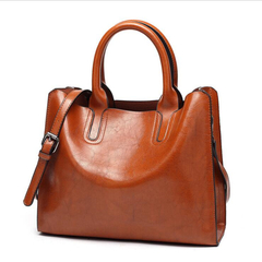Leather Handbags High Quality Women Bag Casual Female Shoulder Bags Trunk Tote Ladies Large Bolsos Brown One size