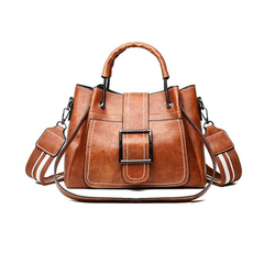 Leather Handbags High Quality Women Bags Casual Shoulder Bags Vintage Larger Capacity Tote Bags brown one size
