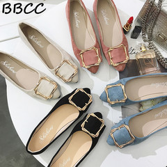 Low-price crazy purchase Bean Shoes Single Shoes Flat  Comfortable Shoes   Student Work Shoes black 35