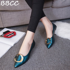 Good Quality and Low Price Women fashion Pointed Shoes Factory ladies   shoes women Flat shoes black 35