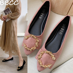 Good Quality and Low Price Women Shoes  Ladies Flat Shoes Casual Comfortable Pointed Toe Flat Shoes black 35