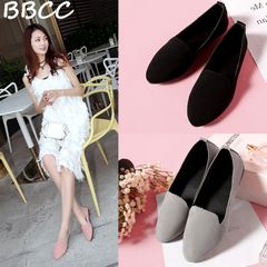 Women shoes Slip On Round Toe Shallow shoes Sandals casual Ladies Shoes Genuine Flats Loafer black 41