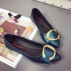 Limited Explosion Promotion Women fashion Pointed Shoes Factory ladies shoes women Flat shoes Green 37