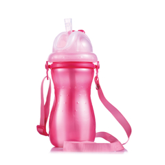 M/Easy PP WATER BOTTLE WITH SILICON STRAW &HANGING STRAP 420ML/14OZ
