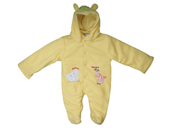 M/Easy POLAR FLEECE QUILTING BABY COAT WITH CAP YELLOW