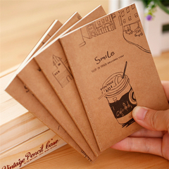 Kraft Paper Cover Pocket Notebook Small Fresh Cute Cartoon Portable Mini Notebooks Notepads